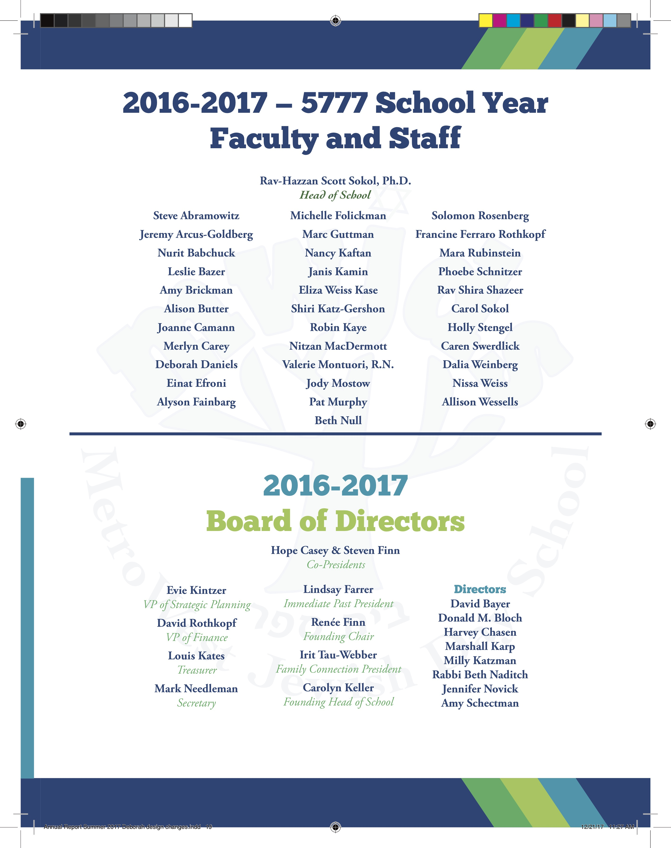 Annual Report   MetroWest Jewish Day School
